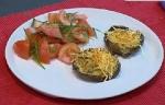 Recetas faciles de Hongos portobello rellenos de queso