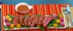 Recetas faciles de Punta de Anca con Salsa BBQ y Rugula