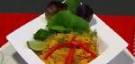 Recetas faciles de Fideos con Azafran y Vegetales