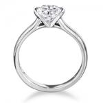 El anillo de compromiso con diamantes