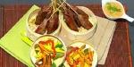 Recetas de Navidad: Satays de lomo con salsa de maní