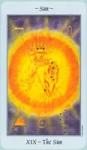 La  energía masculina del tarot está representada por El Sol