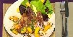 Recetas faciles de Chuletas de cerdo con salsa fresca de melocotones