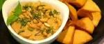 Recetas faciles de Dip de berenjenas con pitas fritas y hierbabuena