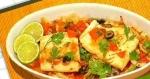 Recetas faciles de Mero braseado con tomates y aceitunas