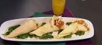 Recetas faciles de pollo crocante con ensalada de mango