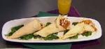 Recetas faciles de Conitos de pollo crocante con ensalada de mango