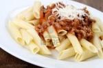 Receta de Pasta en salsa boloñesa