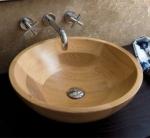 La madera en los lavabos
