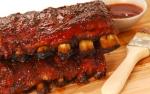 Receta de Costillas de cerdo en salsa bbq al maní