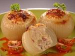 Receta de Cebollas rellenas de bechamel y carne