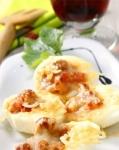 Receta de Huevos rellenos de carne y champiñónes