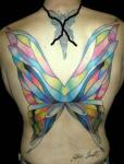 Tatuajes de alas de mariposas