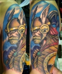 Los tatuajes de guerreros vikingos