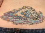 Tatuajes de olas del mar