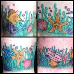 Tatuajes marinos o del fondo del océano