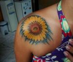 Flores de girasol para un tatuaje