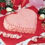Tarta corazón rosa San Valentin