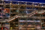 Estructura del Centro Cultural Pompidou de París