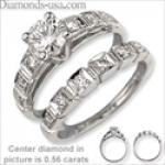 Anillo de compromiso de diamante solitario