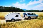 De camping con una mini caravana rutera